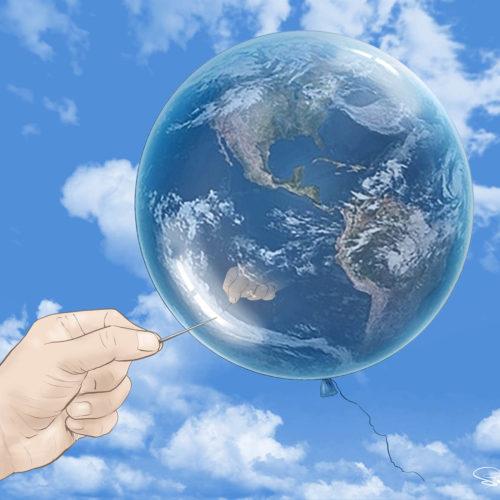 ziemia w baloniku
