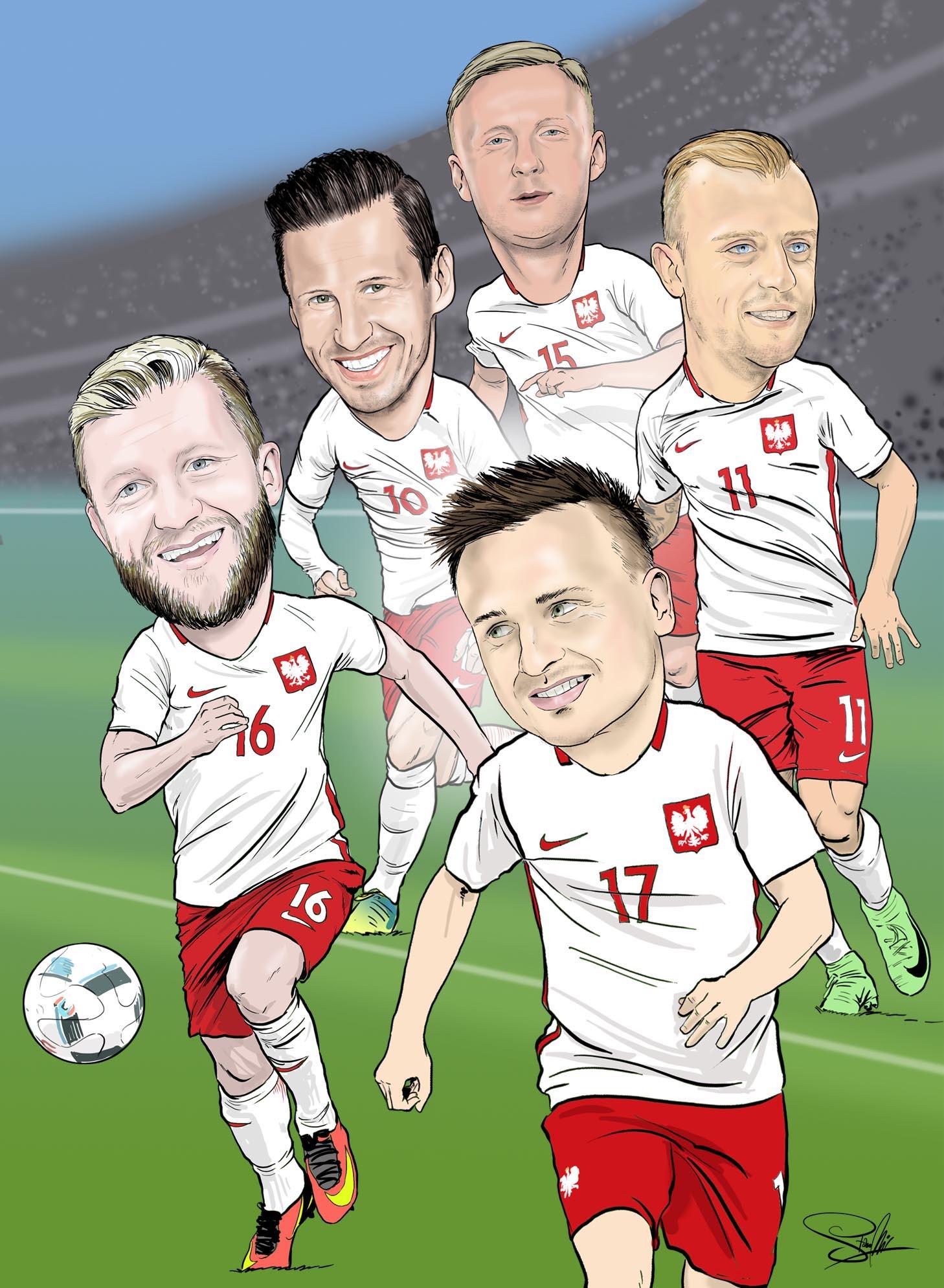 reprezentacja polski piłka nożna karykatura
