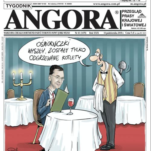 okładka angora premier morawiecki