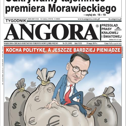 okładka angora Mateusz Morawiecki