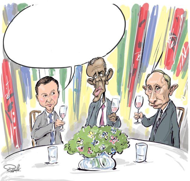 prezydent duda putin obama kolacja