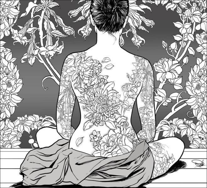 tatuaż kobieta