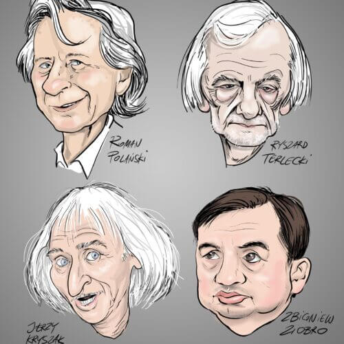 karykatura twarze